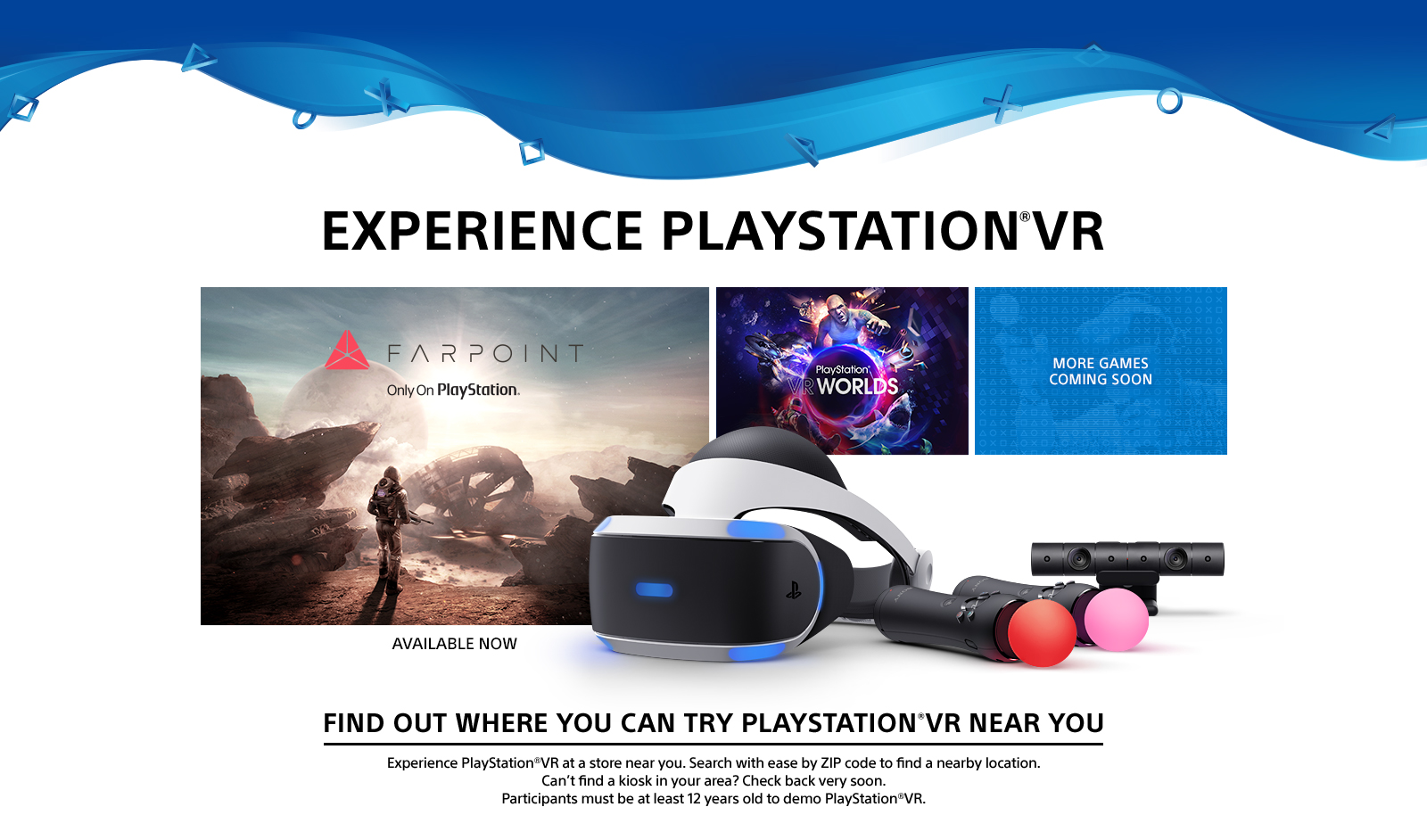 Experience PlayStation VR - Us zip code checker