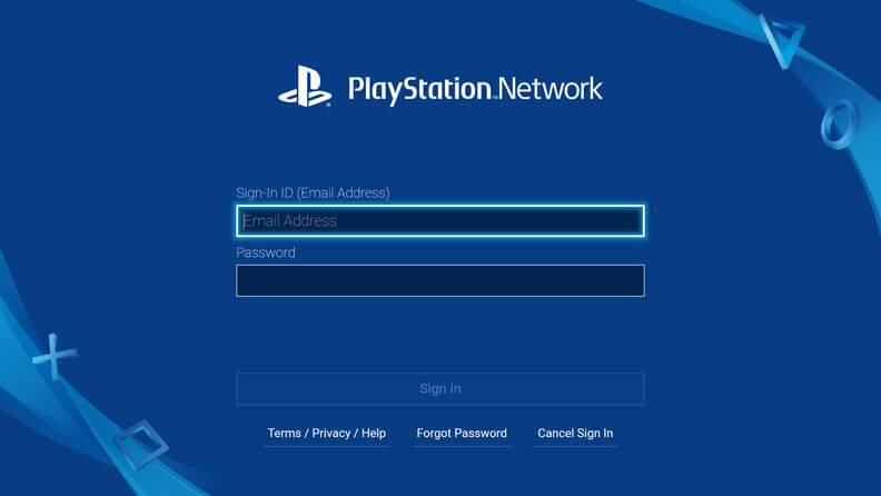 Screenshot of PlayStation Vue on android_tv
