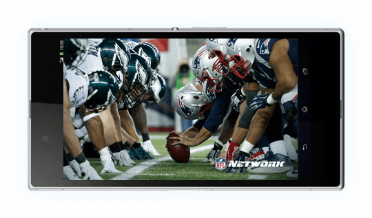 A smartphone depiciting American Football